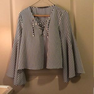 Zara Basic Collection Nautical Blouse